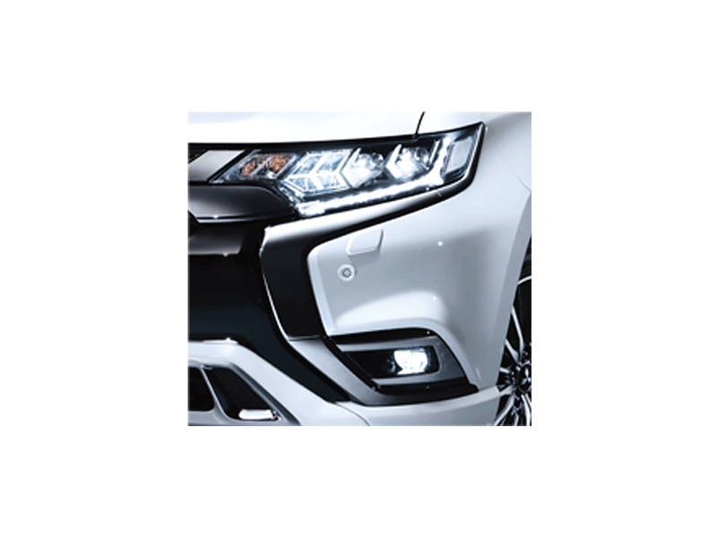 LED Headlamps with LED daytime running lamps and LED Front Fog Lamps
